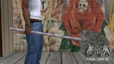 Tubulação com concreto para GTA San Andreas terceira tela