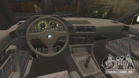 BMW M5 E34 para GTA 4 vista de volta