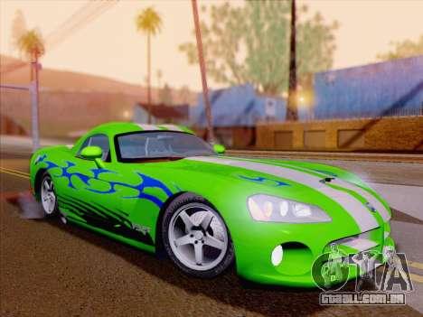 Dodge Viper SRT-10 Coupe para as rodas de GTA San Andreas
