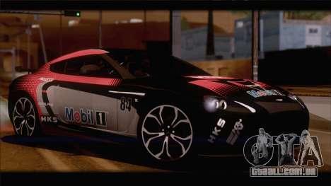 Aston Martin V12 Zagato 2012 [HQLM] para GTA San Andreas vista direita