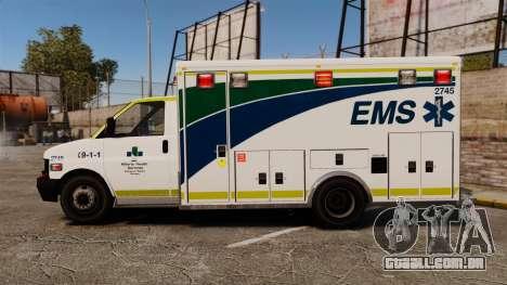 Brute Alberta Health Services Ambulance [ELS] para GTA 4 esquerda vista