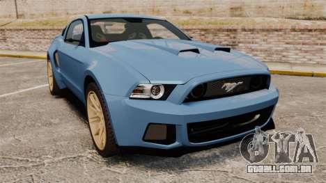 Ford Mustang GT 2013 Widebody NFS Edition para GTA 4