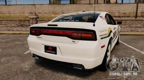 Dodge Charger RT 2012 Slicktop Police [ELS] para GTA 4 traseira esquerda vista