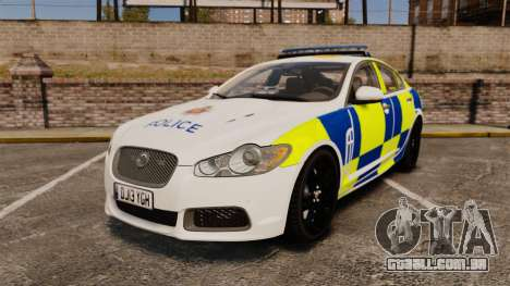 Jaguar XFR 2010 Police Marked [ELS] para GTA 4