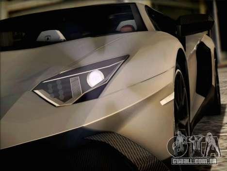 Lamborghini Aventador LP720 para GTA San Andreas esquerda vista