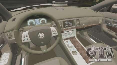 Jaguar XFR 2010 Police Marked [ELS] para GTA 4 vista interior