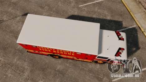 Hazmat Truck LCFR [ELS] para GTA 4 vista direita