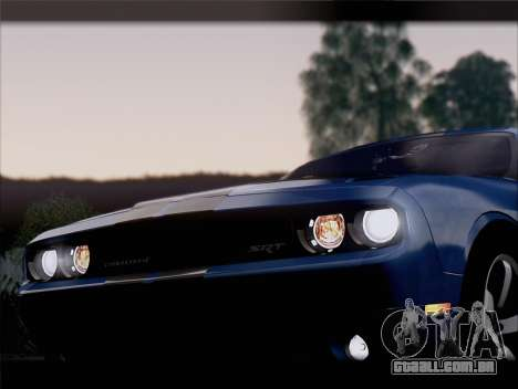 Dodge Challenger SRT8 2012 HEMI para o motor de GTA San Andreas