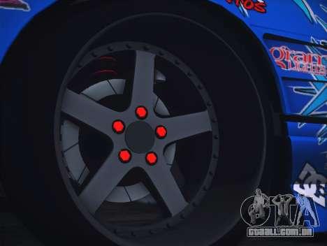 Nissan Silvia S13 Toyo para GTA San Andreas vista traseira