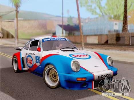 Porsche 911 RSR 3.3 skinpack 4 para GTA San Andreas traseira esquerda vista