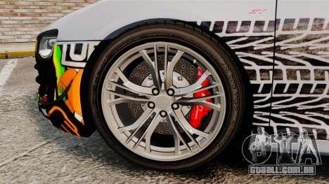 Audi R8 GT Coupe 2011 Drift para GTA 4 vista de volta