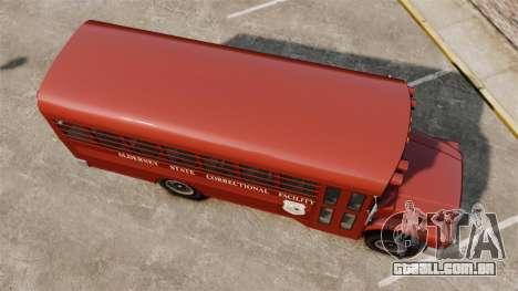 GTA IV TLAD Prison Bus para GTA 4 vista direita