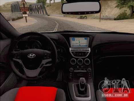 Hyundai Genesis Stance para GTA San Andreas vista direita