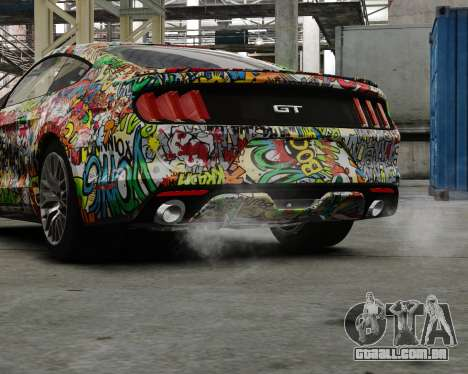 Ford Mustang GT 2015 Sticker Bombed para GTA 4 esquerda vista