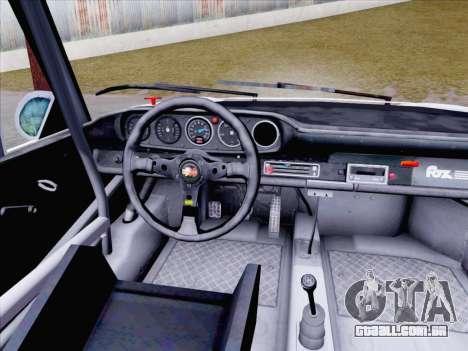 Porsche 911 RSR 3.3 skinpack 1 para GTA San Andreas vista traseira