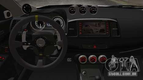 Mitsubishi Lancer X Evolution para GTA San Andreas vista direita