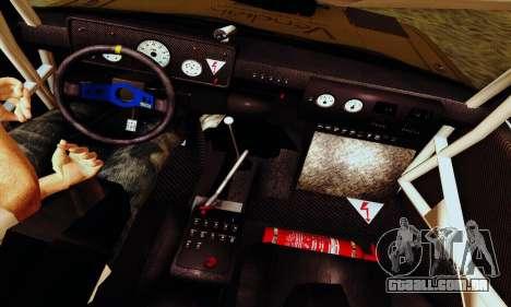 Lada 2105 VFTS para GTA San Andreas vista inferior