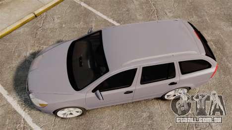 Skoda Octavia RS Unmarked Police [ELS] para GTA 4 vista direita