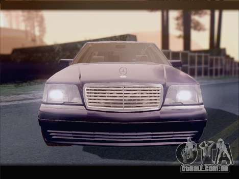 Mercedes-Benz S600 V12 V1.2 para GTA San Andreas vista interior