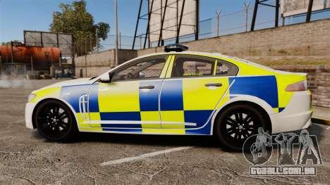 Jaguar XFR 2010 Police Marked [ELS] para GTA 4 esquerda vista