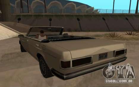 Admiral Cabrio para GTA San Andreas traseira esquerda vista