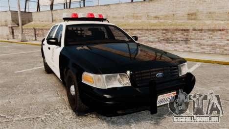 Ford Crown Victoria 1999 LAPD & GTA V LSPD para GTA 4