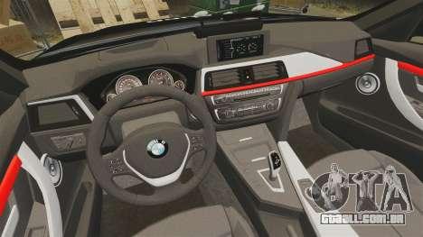 BMW F30 328i Metropolitan Police [ELS] para GTA 4 vista lateral