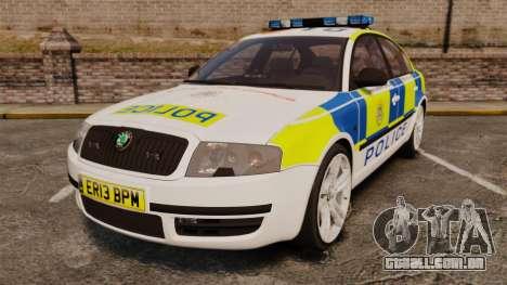 Skoda Superb 2006 Police [ELS] Whelen Edge para GTA 4