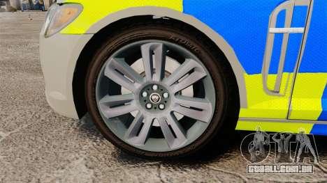 Jaguar XFR 2010 West Midlands Police [ELS] para GTA 4 vista de volta