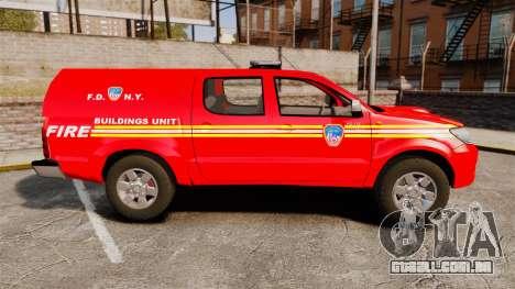 Toyota Hilux FDNY [ELS] para GTA 4 esquerda vista