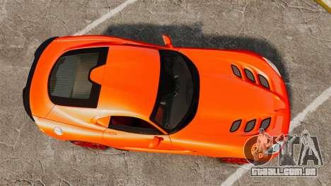 Dodge Viper SRT TA 2014 para GTA 4 vista direita