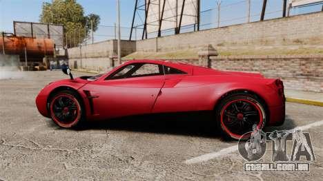 Pagani Huyara [EPM] para GTA 4 esquerda vista