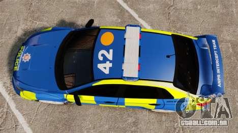 Subaru Impreza WRX STI 2011 Police [ELS] para GTA 4 vista direita