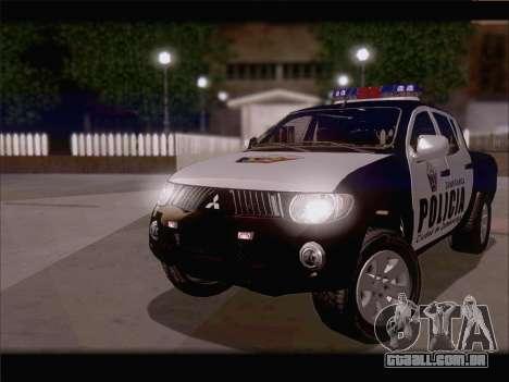 Mitsubishi L200 POLICIA para GTA San Andreas esquerda vista