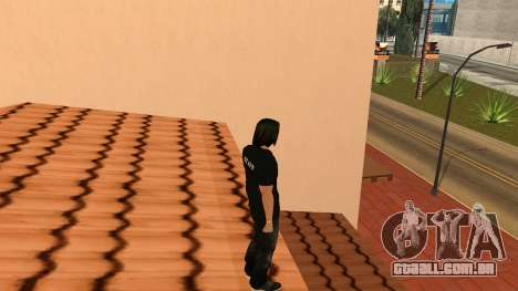 Pele de alta qualidade pessoal para GTA San Andreas quinto tela