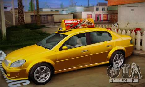 Declasse Premier Taxi para GTA San Andreas vista interior
