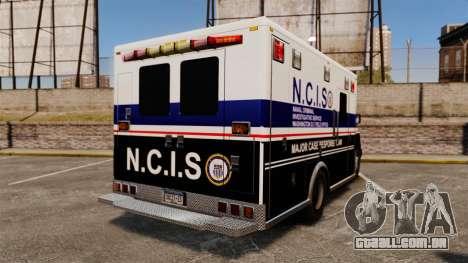 Brute NCIS [ELS] para GTA 4 traseira esquerda vista