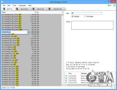 IMG Manager 2.0 para GTA San Andreas terceira tela