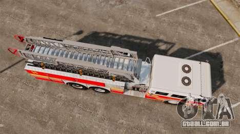 MTL Firetruck MDH1000 LCFR [ELS] para GTA 4 traseira esquerda vista