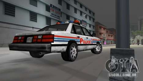 BETA Police Car para GTA Vice City vista traseira esquerda