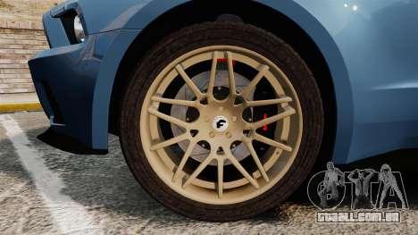 Ford Mustang GT 2013 Widebody NFS Edition para GTA 4 vista de volta