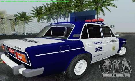 Polícia de 2106 VAZ para GTA San Andreas vista inferior