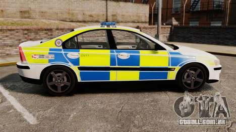 Volvo S60R Police [ELS] para GTA 4 esquerda vista