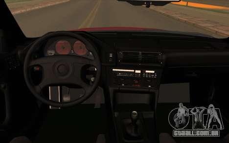 BMW E34 para GTA San Andreas vista traseira