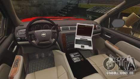 Chevrolet Tahoe Fire Chief v1.4 [ELS] para GTA 4 vista de volta