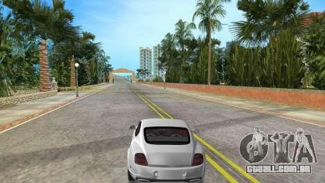 Bentley Continental Extremesports para GTA Vice City vista traseira esquerda