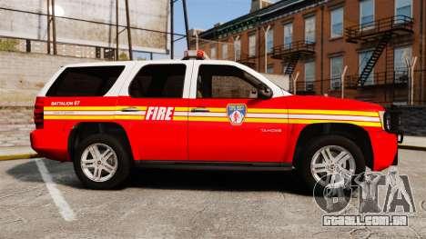 Chevrolet Tahoe Fire Chief v1.4 [ELS] para GTA 4 esquerda vista