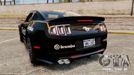 Ford Mustang GT 2013 NFS Edition para GTA 4 traseira esquerda vista