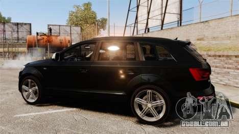 Audi Q7 Unmarked Police [ELS] para GTA 4 esquerda vista