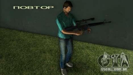 M-16 com uma arma de Sniper para GTA Vice City segunda tela